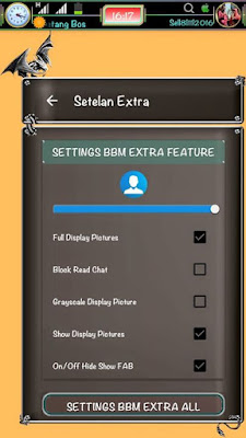 BBM Mod Black Dragon Style Extra Fitur V3.1.0.13 Apk