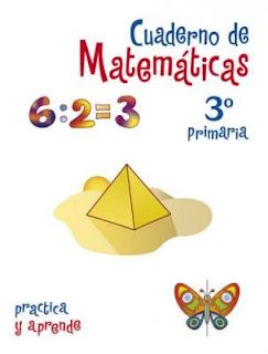Carátula para cuaderno de matemática tercero primaria