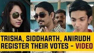Vishal, Arya, Atharva, Siddharth, Anirudh register their votes #TNElections2016
