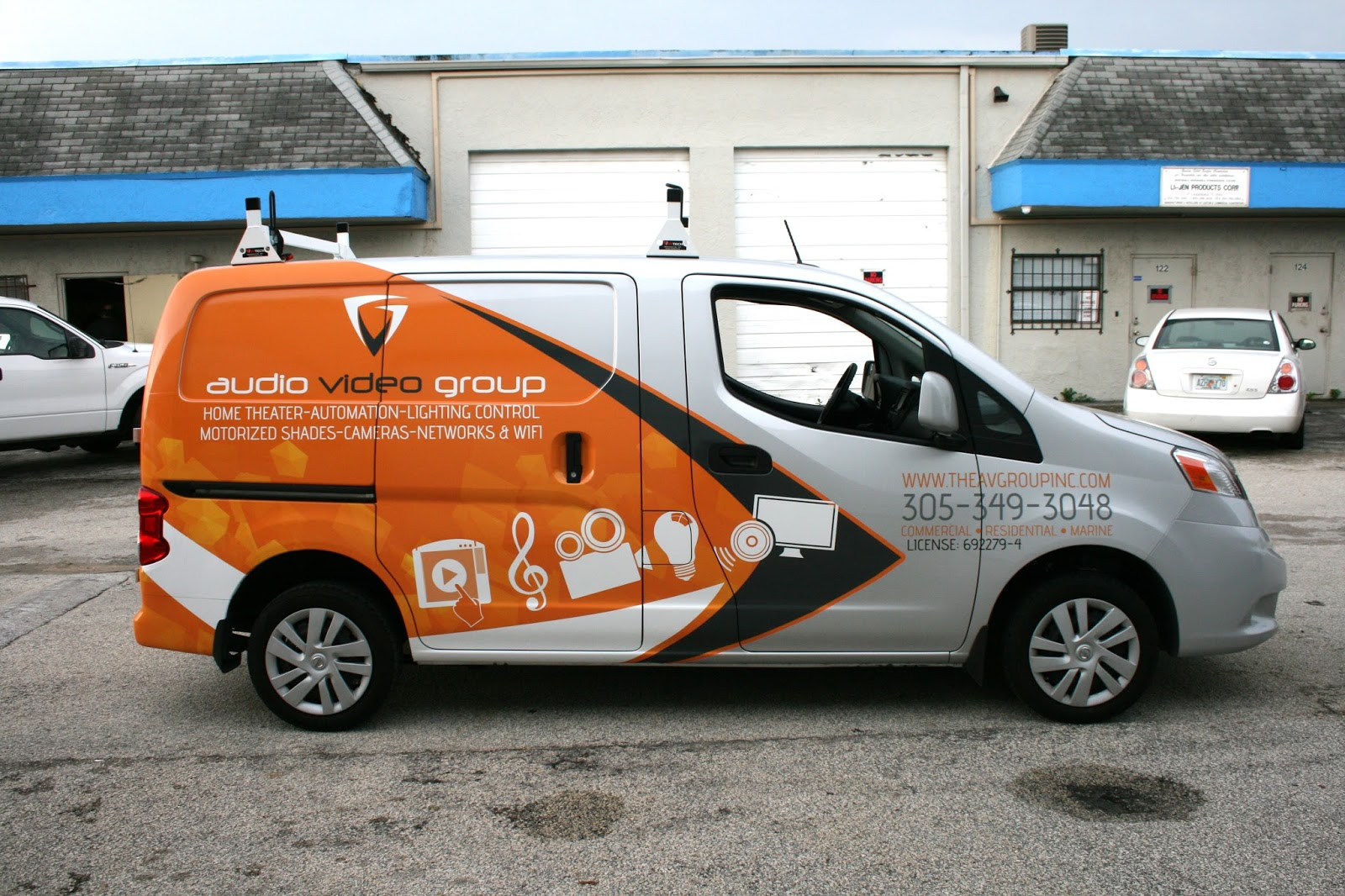 2eac7b5fdf Nissan NV 200 Small Business Commercial Vehicle Wrap Coconut Grove Florida
