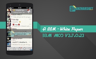 BBM A Style v.02 - BBM Mod Android Tampilan Simpel