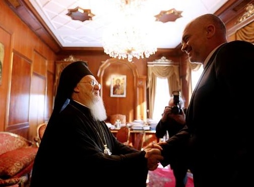 Rama meets Orthodox Patriarch of Istanbul