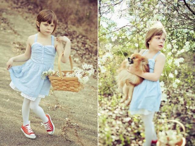 niña con su cachorro