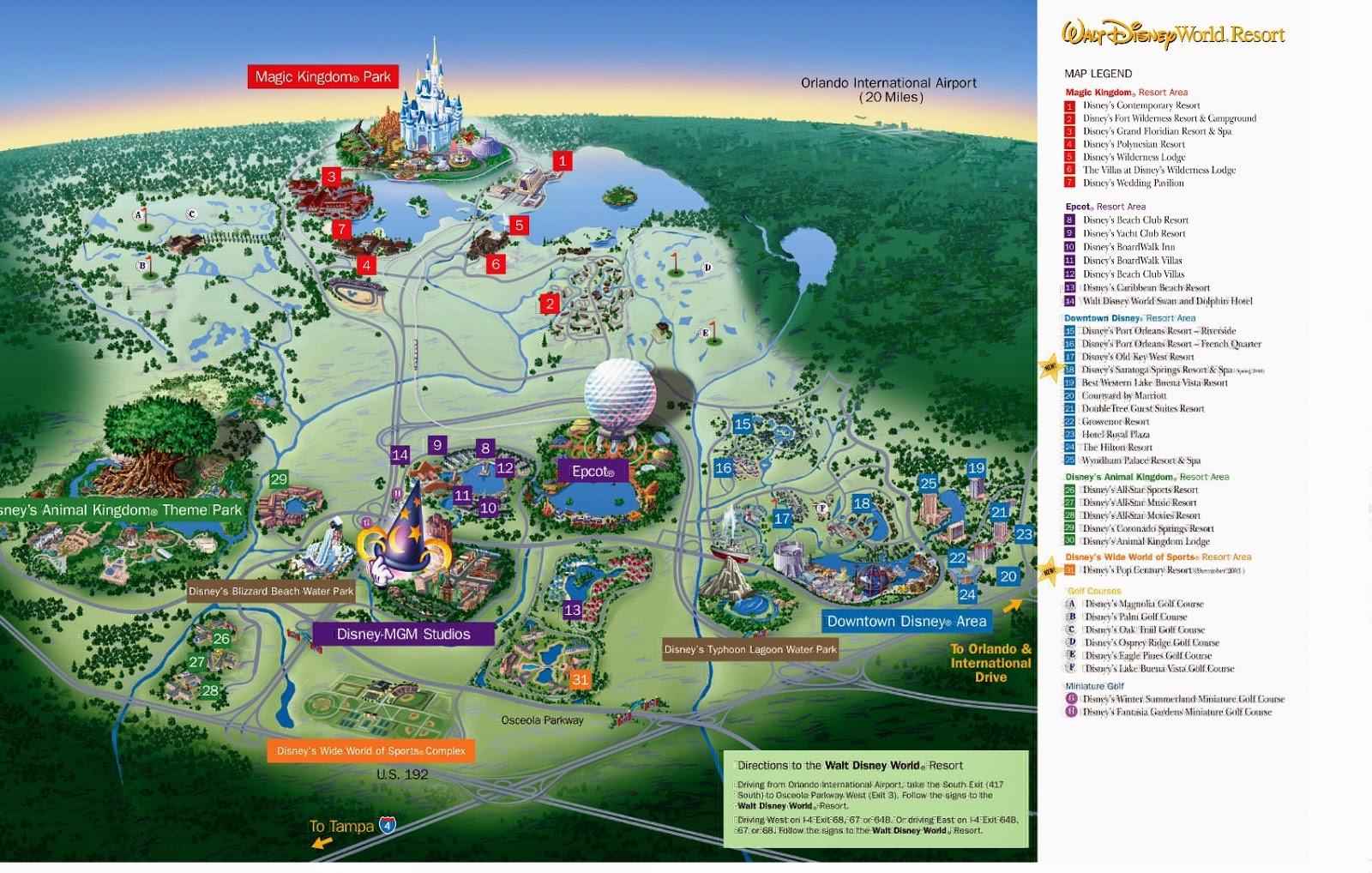 Mapa Parques Disney Orlando