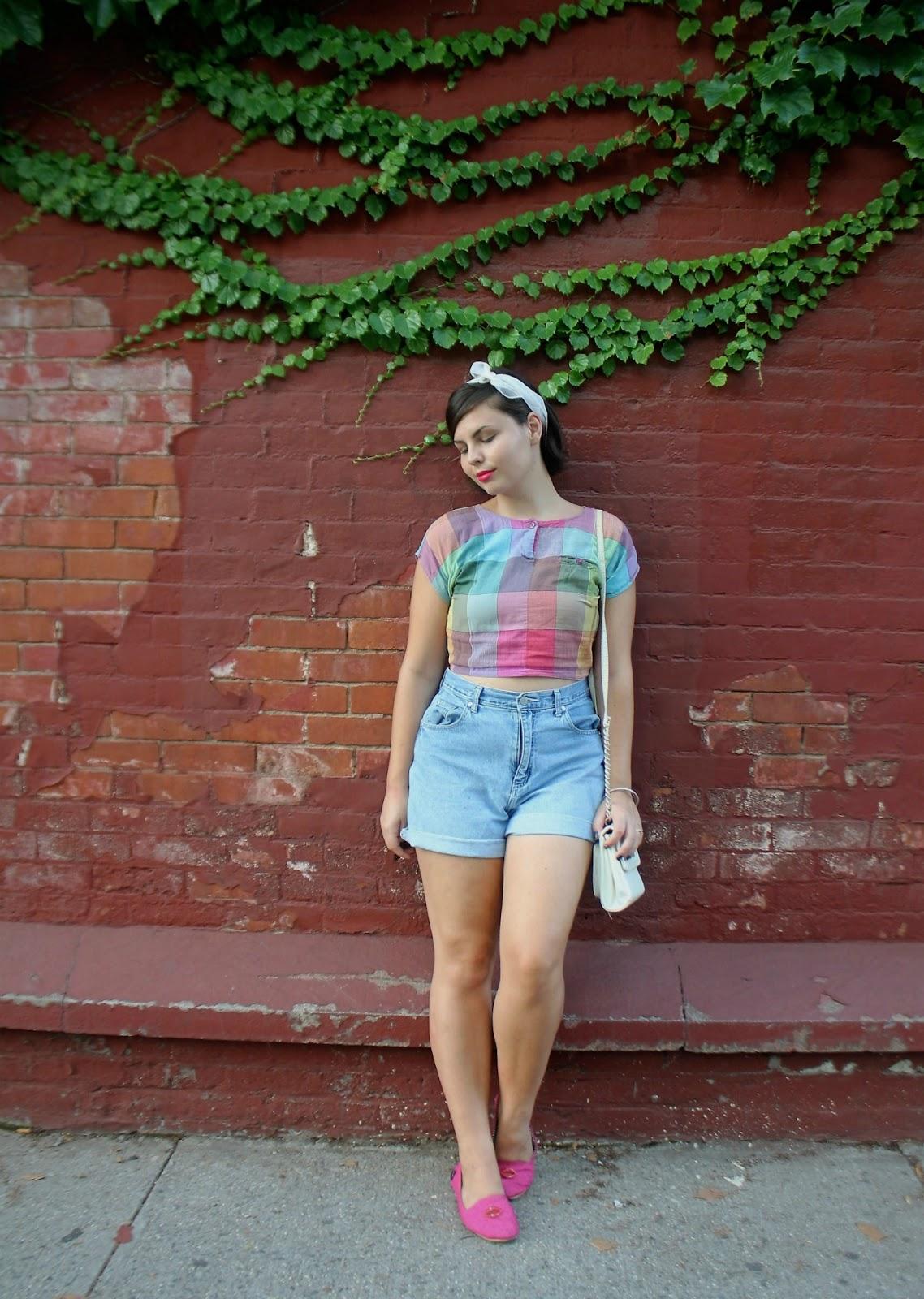 colorful vintage top