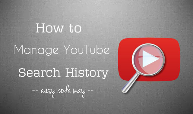 Manage YouTube Search History