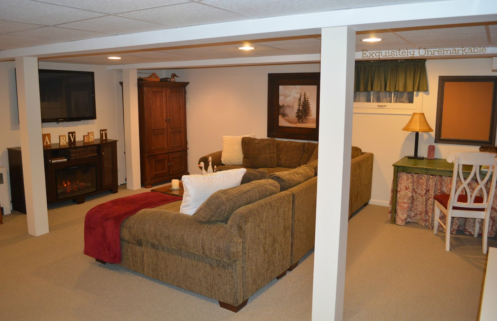 How to makeover your basement on a budget