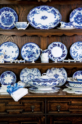 Hydrangea Hill Cottage Transferware And Cornishware In Blue