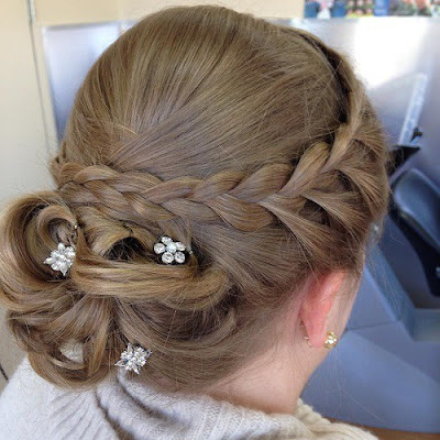 peinados recogidos con cola