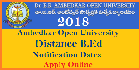 BRAOU - BEd-BEdSE-Entrance-Exam-Notification-2018