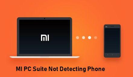 MI PC Suite Not Detecting Phone Image
