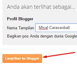 profil terbatas blogger