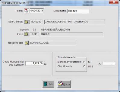 Los sub contratos en el control de obras
