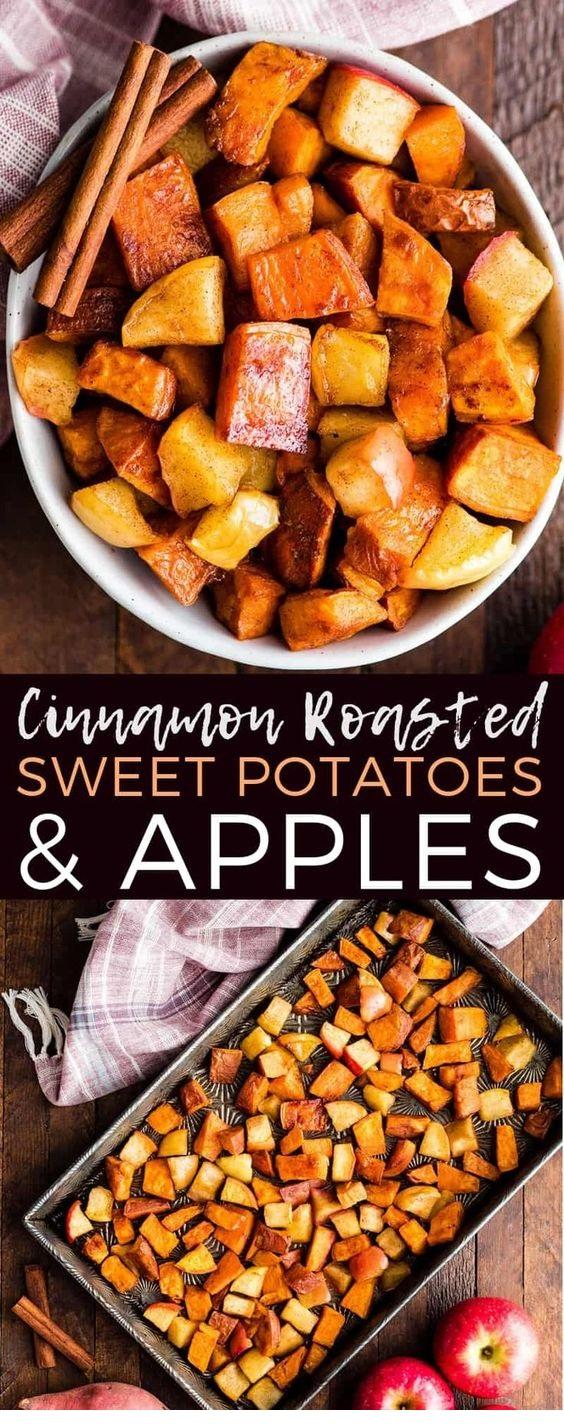 Cinnamon Roasted Sweet Potatoes And Apples