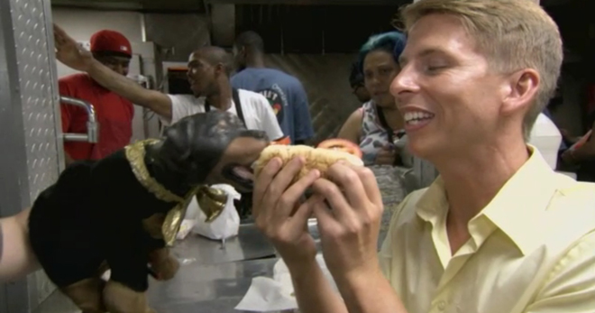 jack mcbrayer and triumph the insult comic dog take on chicago's
