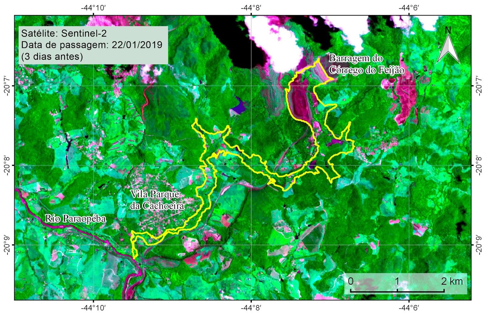 A análise foi realizada no trecho da barragem da mina Córrego do Feijão até  a confluência com o rio Paraopeba. 2e48019cd2