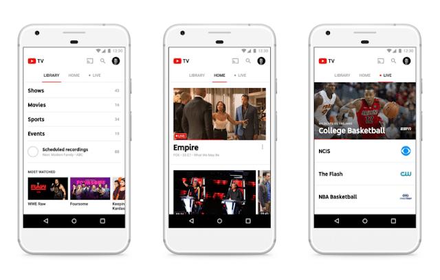 شركة اليوتيوب تطلق خدمة تلفزيون يوتيوب الجديده YouTube TV