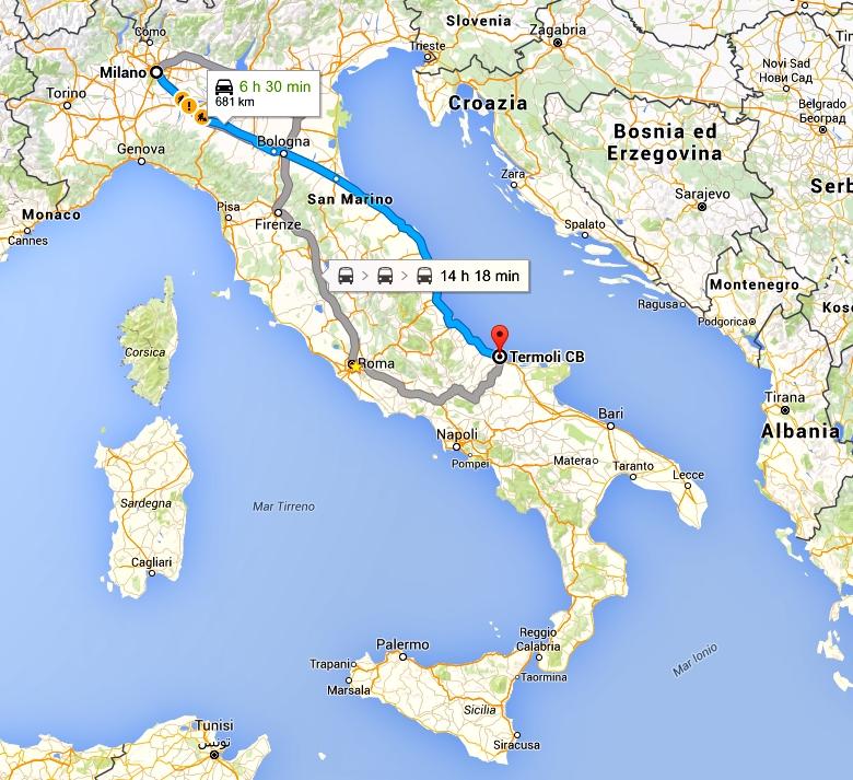 Termoli porto di imbarco per le isole Tremiti dal nord Italia
