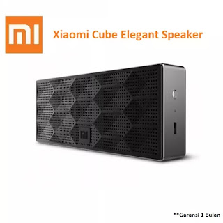 Diskon Lazada; Xiaomi Speaker Bluetooth Portable Cube Original Bass Stereo - Hitam