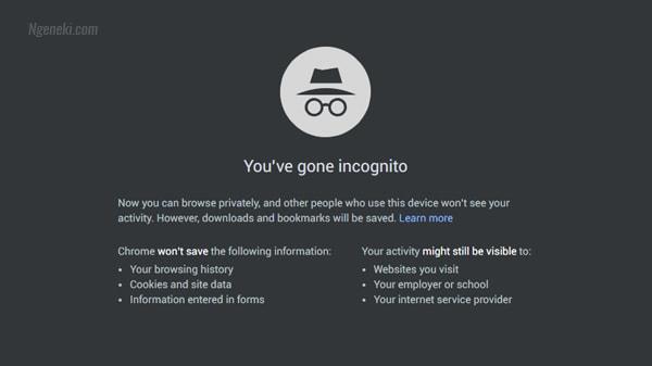 Tab penyamaran di Google Chrome