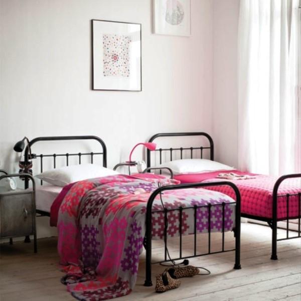 vintage twin black iron bedroom furniture sets