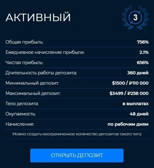 Инвестиционные планы Mirax Capital 3