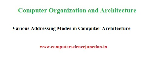 addressing modes in computer architecture based Computer Science Study Material for Gate