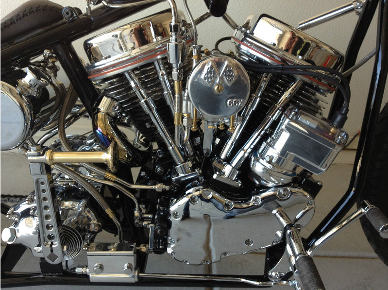1960 Harley Davidson Flh Panhead Chopper For Sale Rusty