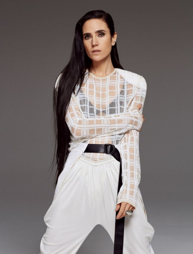 Jennifer Connelly in harper's bazaar magazine photoshoot