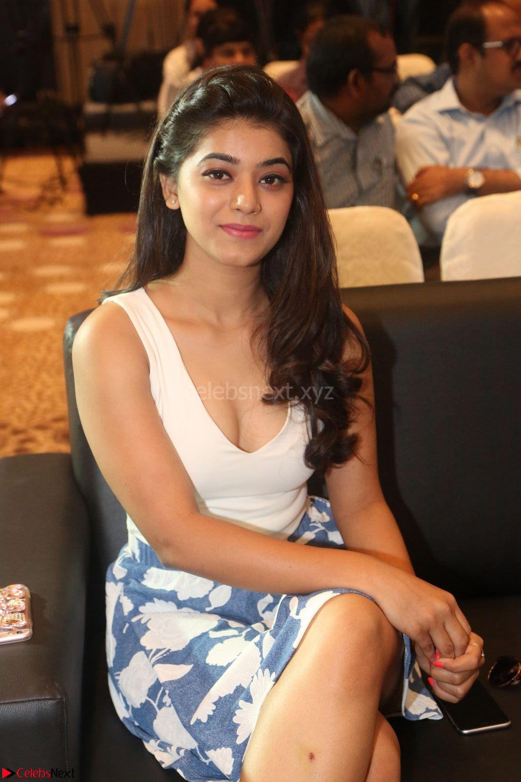 Yamini in Short Mini Skirt and Crop Sleeveless White Top at Launch of YuppTV Originals 15th March 2017