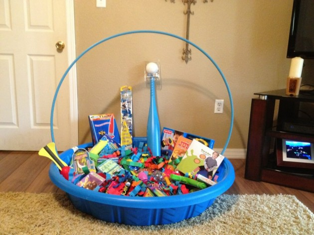 Top 10 no candy themed easter basket ideas preschool powol packets diy pool easter basket negle Image collections