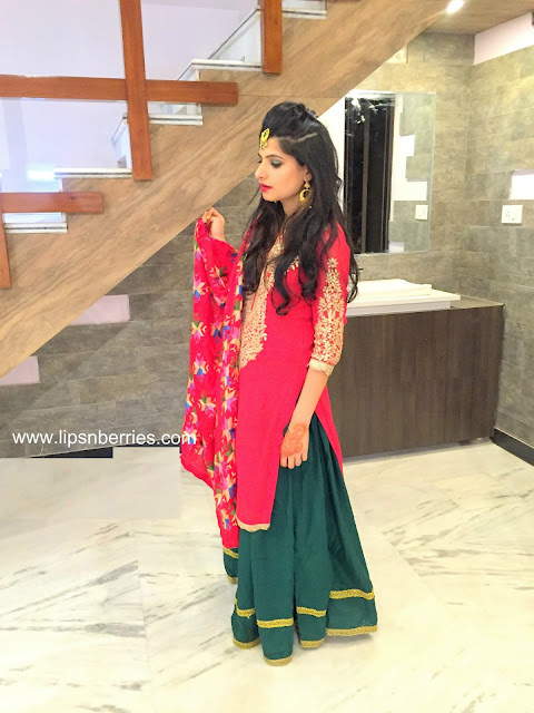 indian lady sangeet outfit
