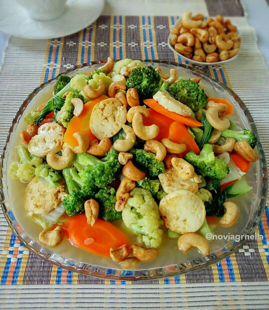 Resep Cah Tofu Sayur Campur Mete yang gurih menggoda