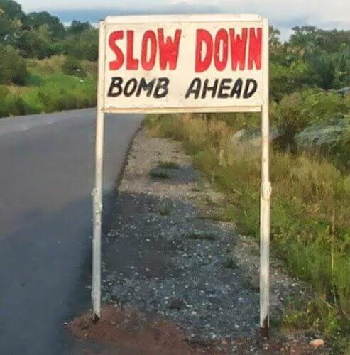 Check out the signboard someone spotted on a road in Bauchi