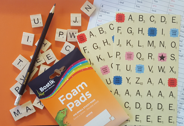 Back to School kids craft challenge to help them spell