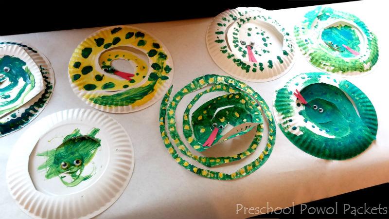 Anaconda Snake Rainforest Craft Fun Facts Preschool Powol Packets