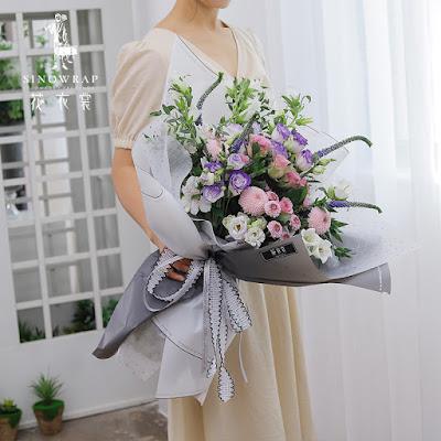 Kertas Buket Bunga / Flower Bouquet Wrapping Paper (Seri HX-031 / HX Blurs)