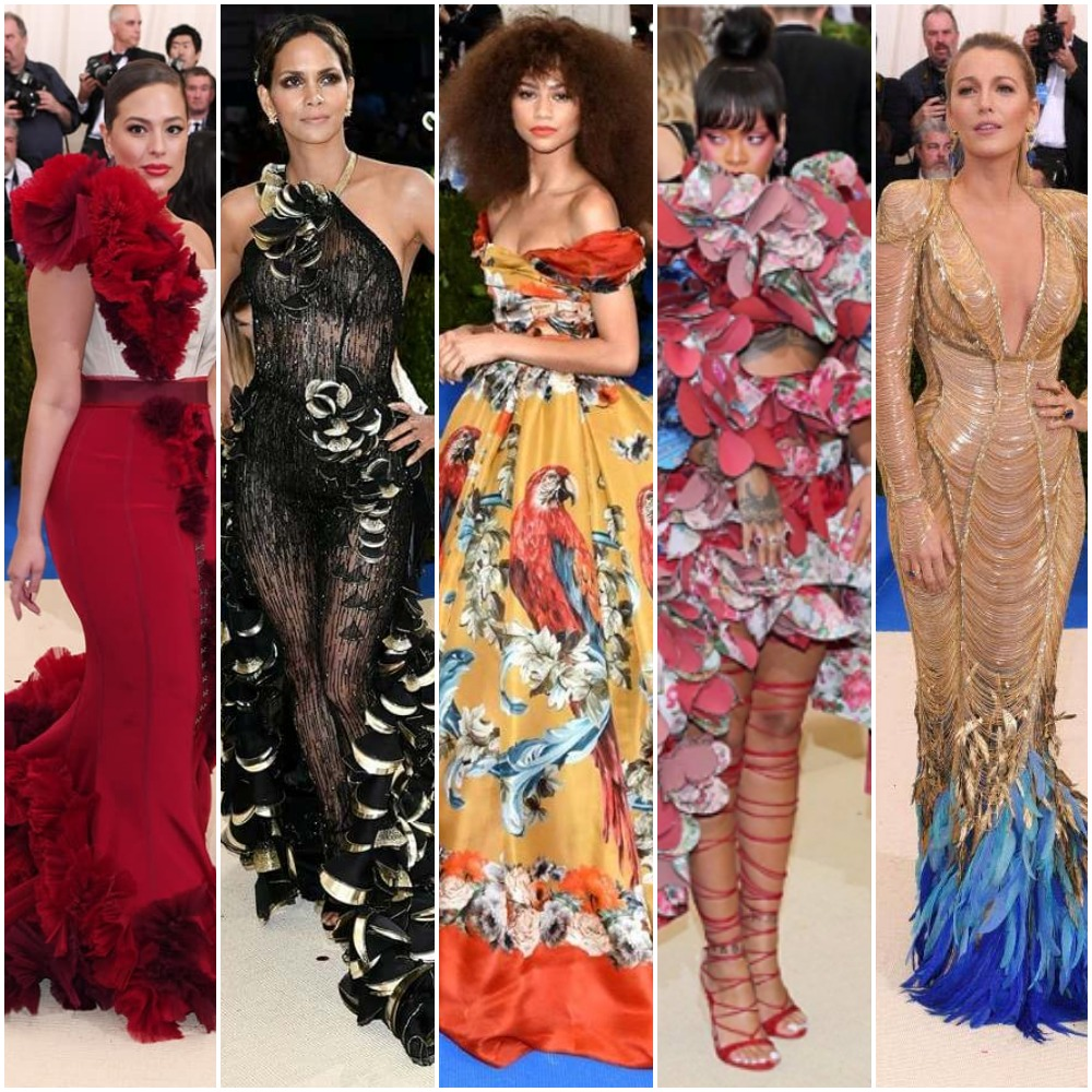Miss Amarachi From Halle Berry To Rihanna And Blake Lively See The Stars That Rocked The 2017 Met Gala Red Carpet