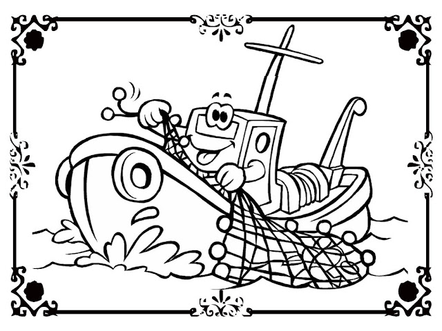 Free printable ship coloring pages