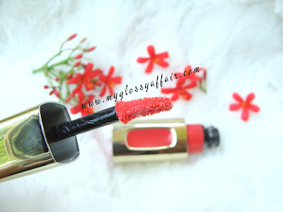 L'Oreal Colour Riche L' Extraordinaire Liquid Lipstick in 'Coral Encore' - Review, Swatches and FOTD