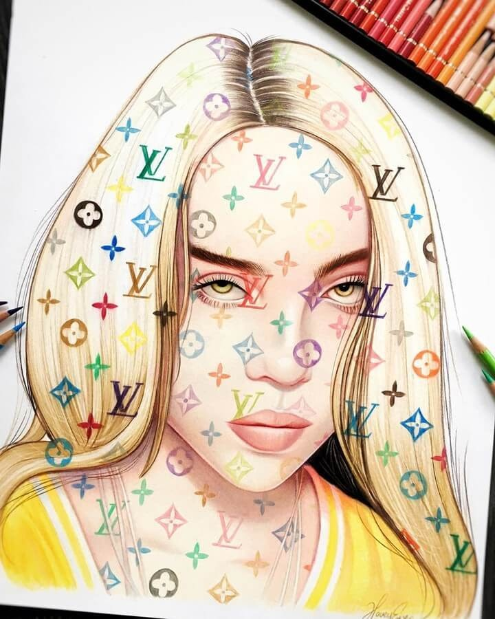 12-Billie-Eilish-Louis-Vuitton-Hovey-Eyres-Portraits-www-designstack-co