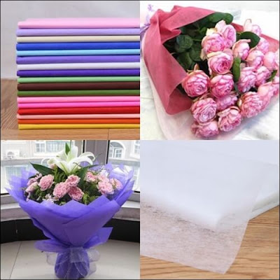 Kertas Tisu Buket Bunga / Tissue Paper Flower Bouquet