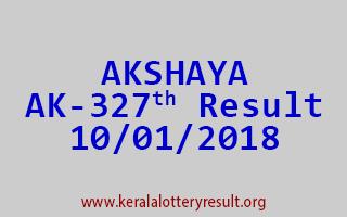 AKSHAYA Lottery AK 327 Results 10-01-2018