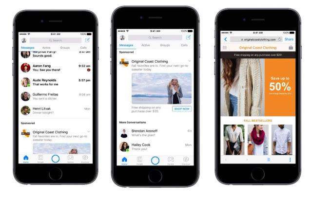 publicidad en video autplay en facebook messenger