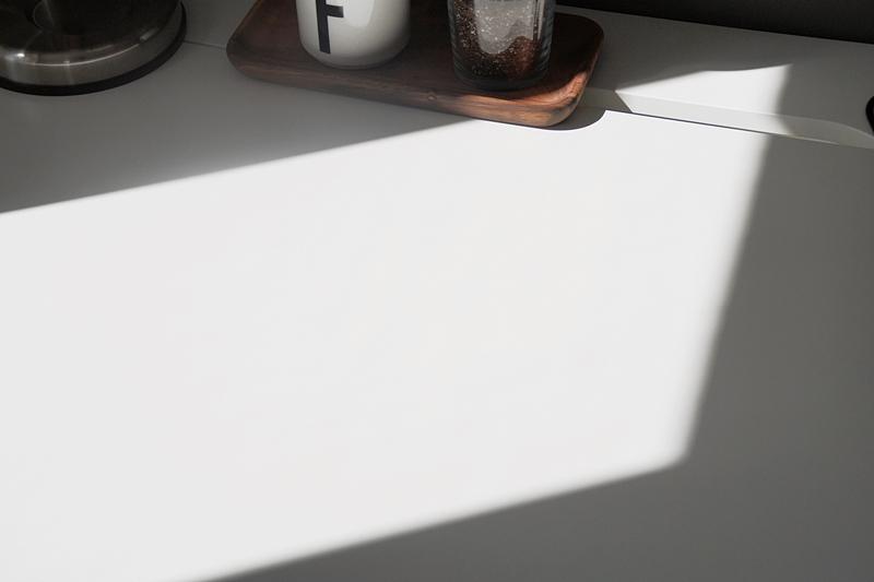 Sonnenschein auf dem Schreibtisch Geometrie