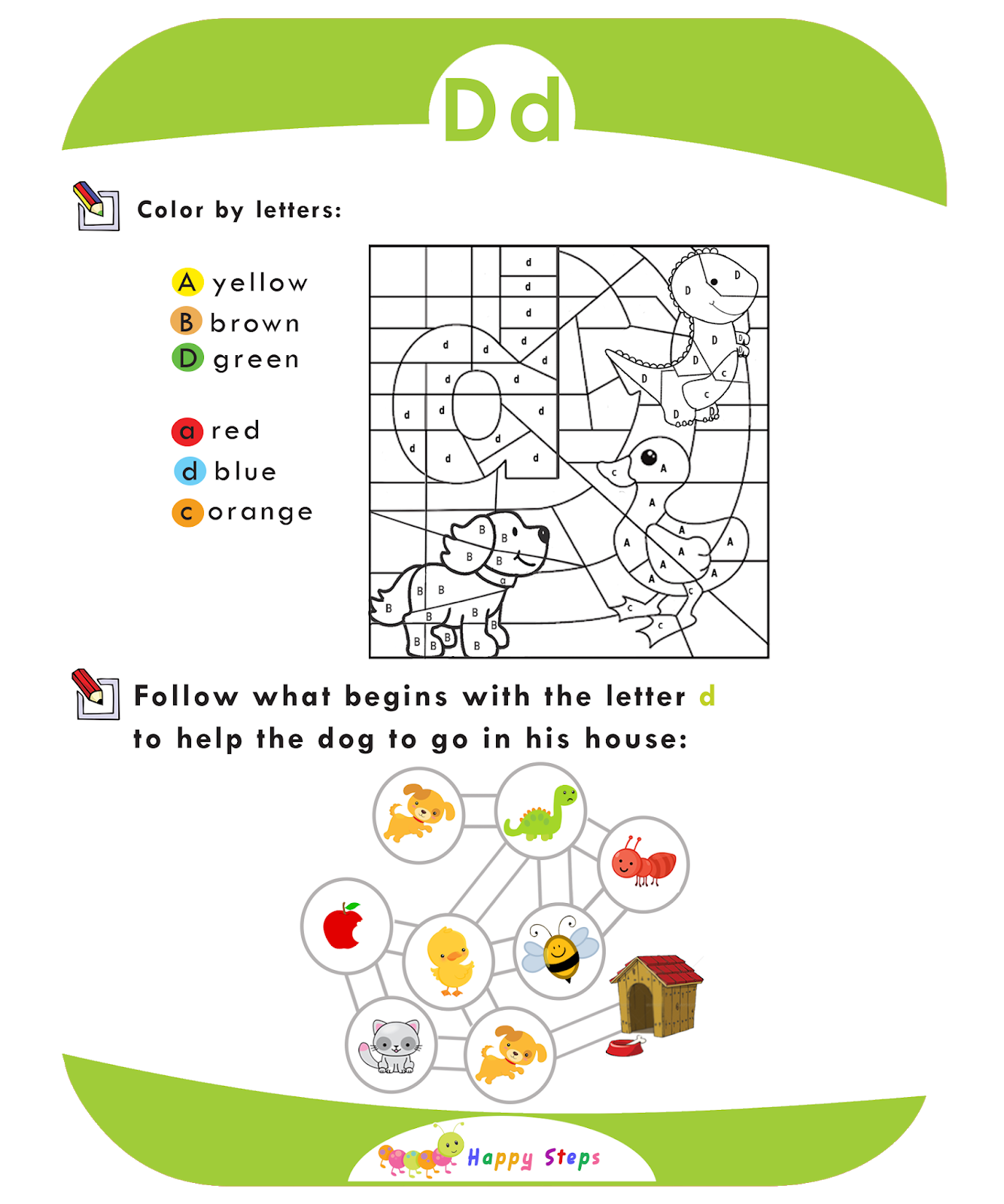 Activity Worksheet 3 Letter D