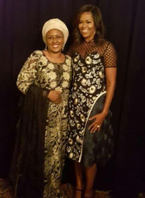 Aisha Buhari with Michelle Obama