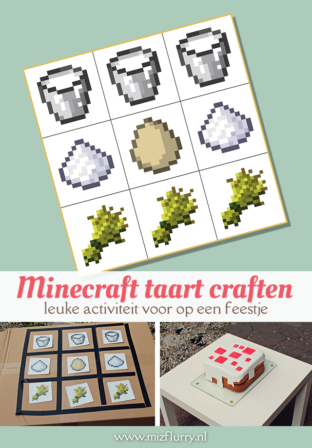Minecraft taart craften -leuke activiteit voor op een feestje