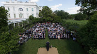 Trump announces he will leave the Paris climate deal in the White House Rose Garden on 1 June, 2017 (Official White House Photo by Joyce N. Boghosian) Click to Enlarge.