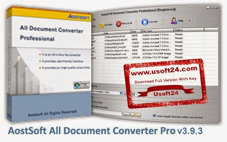 Aostsoft All Document Converter Professional 3.9.3 + Serial Key Download